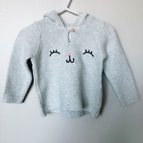 H&M Other - 🍁H&M *NWT* 4-6m grey knit hoodie